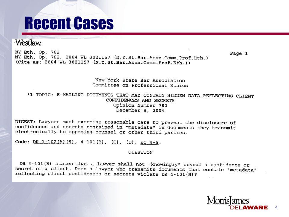 4 Recent Cases