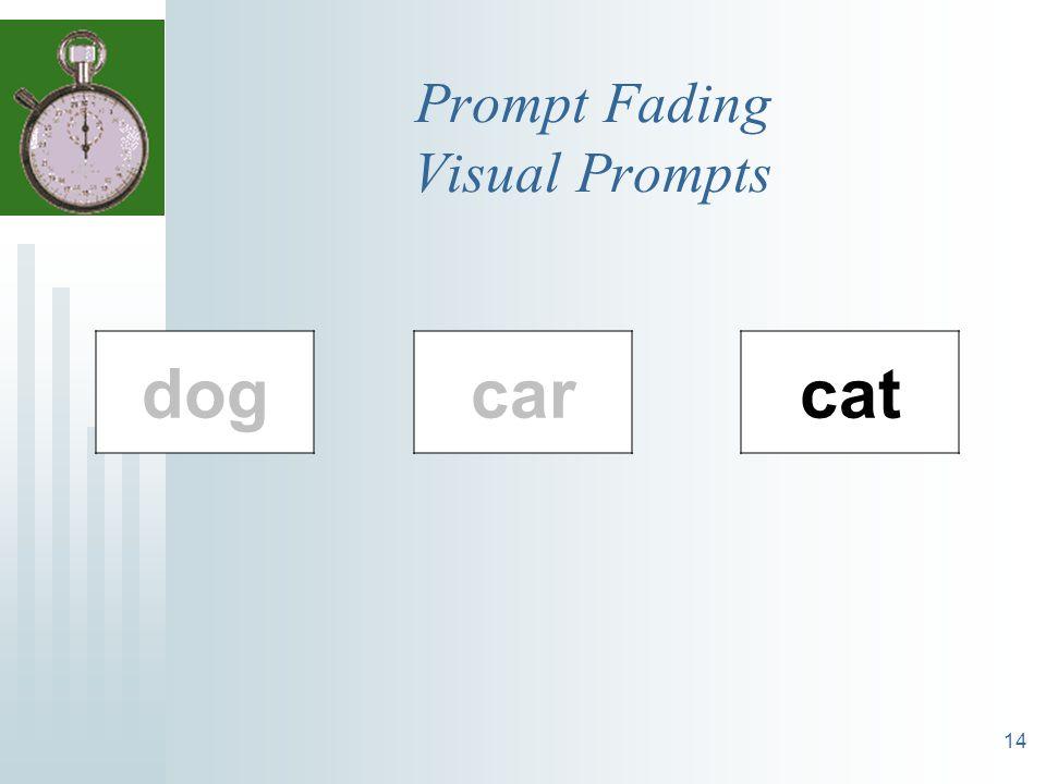 14 Prompt Fading Visual Prompts cat dogcar