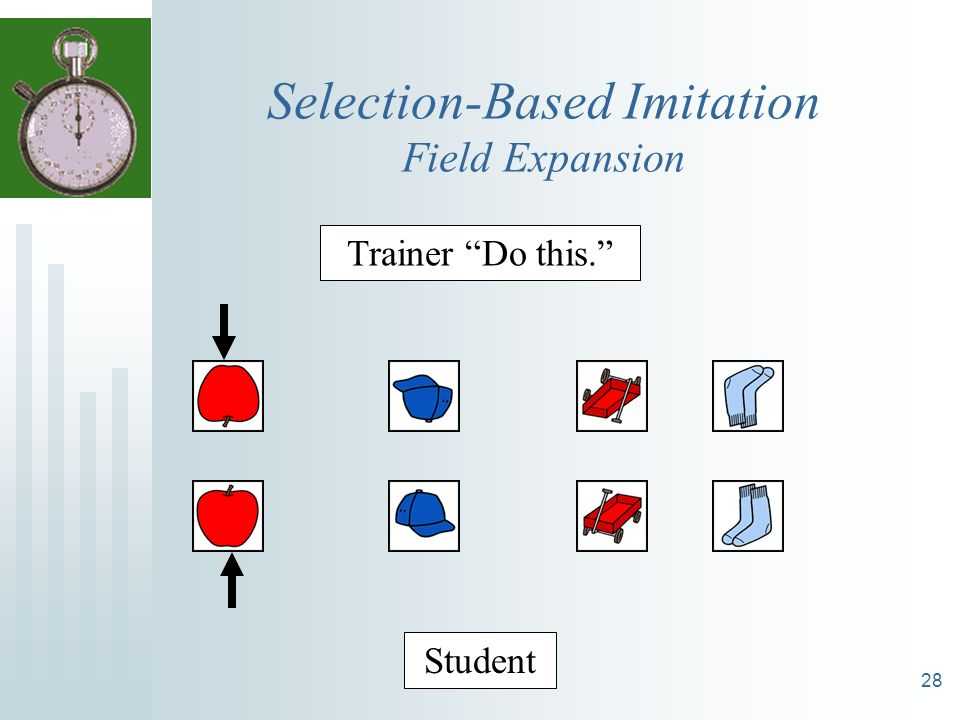28 Selection-Based Imitation Field Expansion Trainer Do this. Student