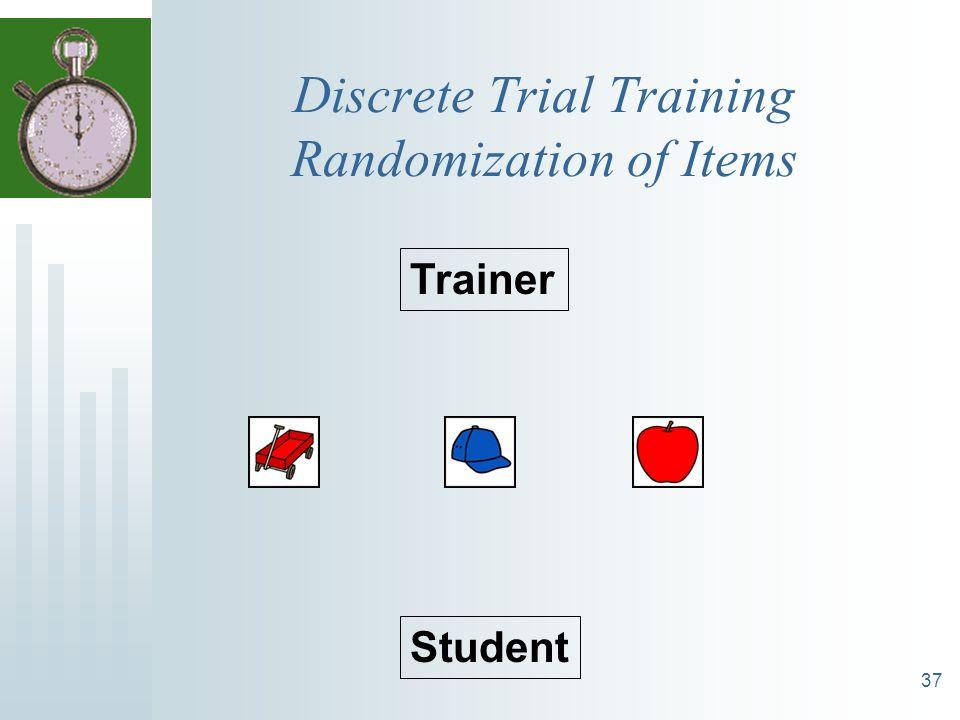37 Discrete Trial Training Randomization of Items Trainer Student