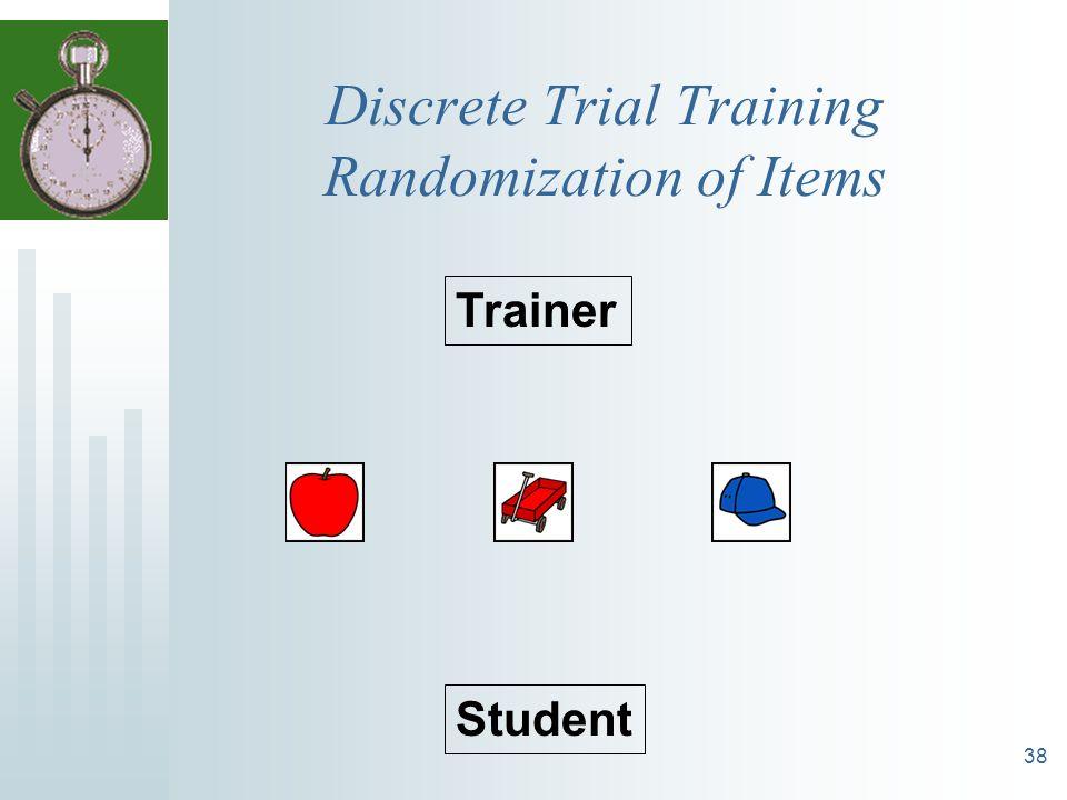 38 Discrete Trial Training Randomization of Items Trainer Student