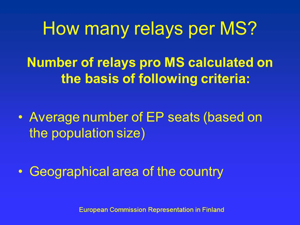 How many relays per MS.