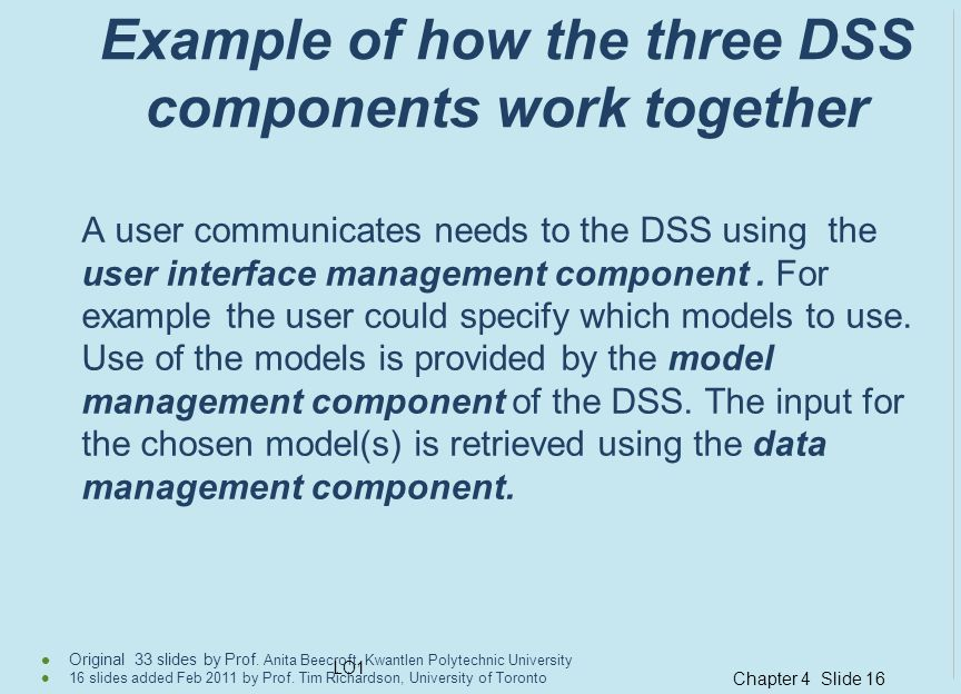 Chapter 4 Slide 16 Original 33 slides by Prof. Anita Beecroft, Kwantlen Polytechnic University 16 slides added Feb 2011 by Prof. Tim Richardson, Unive