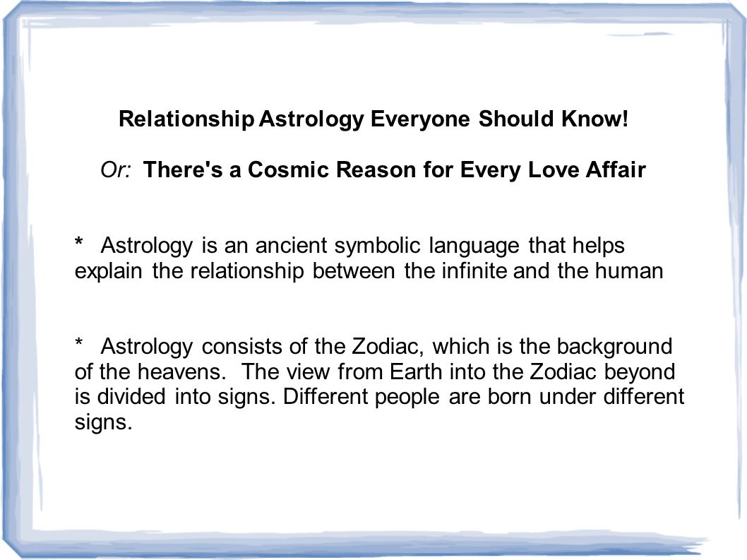Relationship Astrology Everyone Should Know.