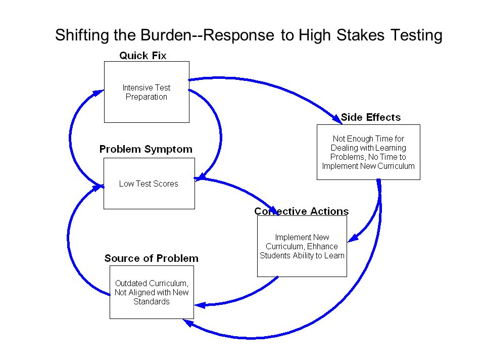 Shifting the Burden--Response to High Stakes Testing