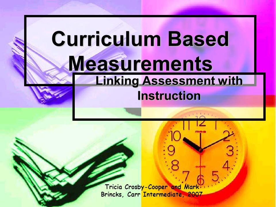 Overview of CBM Procedures & Materials Math: Student completes math problems from selected grade-level materials Student completes math problems from selected grade-level materials 2 minute test 2 minute test Given in group or individually Given in group or individually Score: correct # of digits Score: correct # of digits