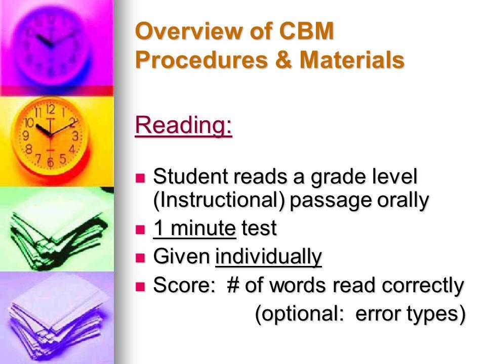 Examples of CBM Graphs…