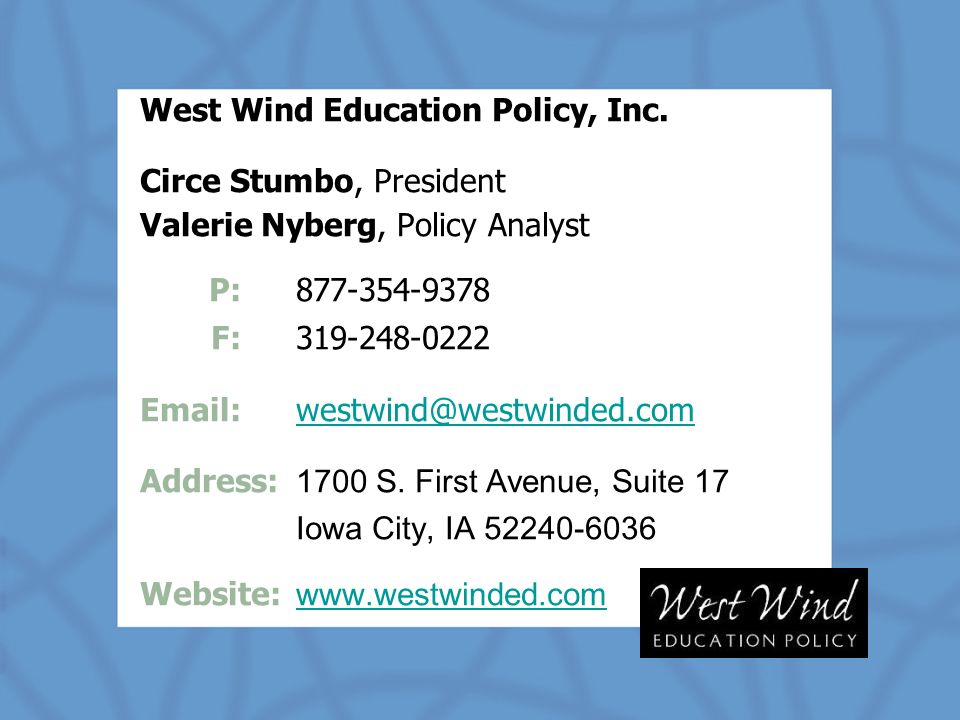 West Wind Education Policy, Inc.