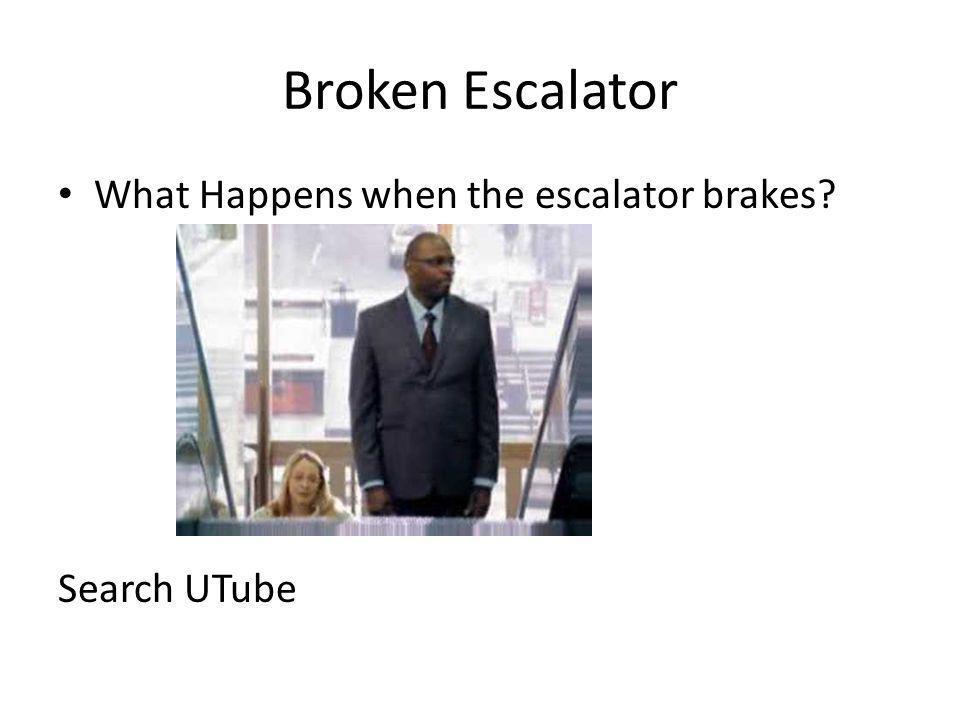 Broken Escalator What Happens when the escalator brakes? Search UTube