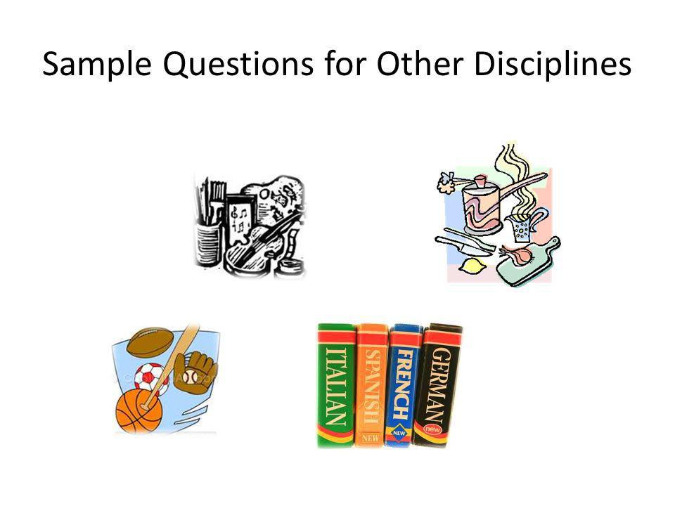Sample Questions for Other Disciplines