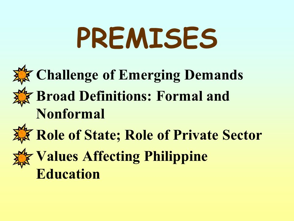 Document Research EDCOM (1992) Philippine Education Sector Study Report of UNESCO Delors Commission Medium Term Philippine Development Plan PROCESS