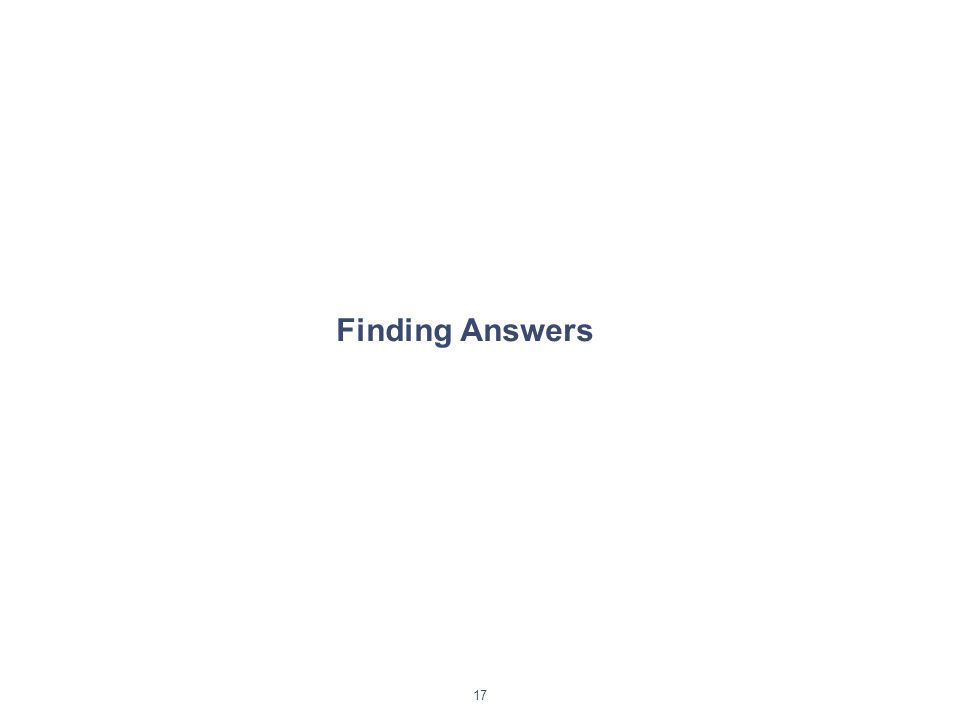 17 Finding Answers