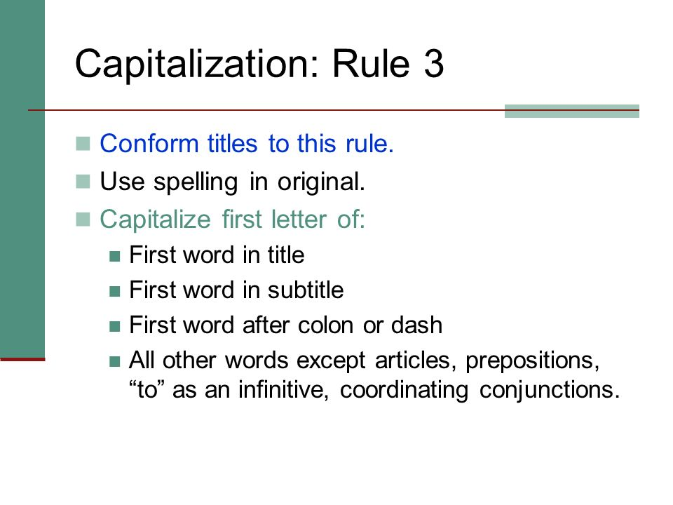 General Spacing Rules In general, close up consecutive capital letters. Example: N.W.2d DO NOT close up capital letters combined with longer abbreviat