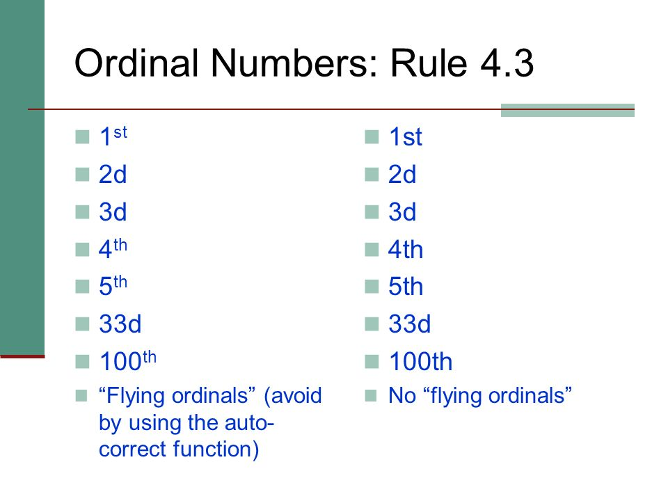 Numbers: Rule 4 Typically spell out zero through ninety-nine. Typically use numerals for 100 and above. Numbers in a series and numbers in proximity.