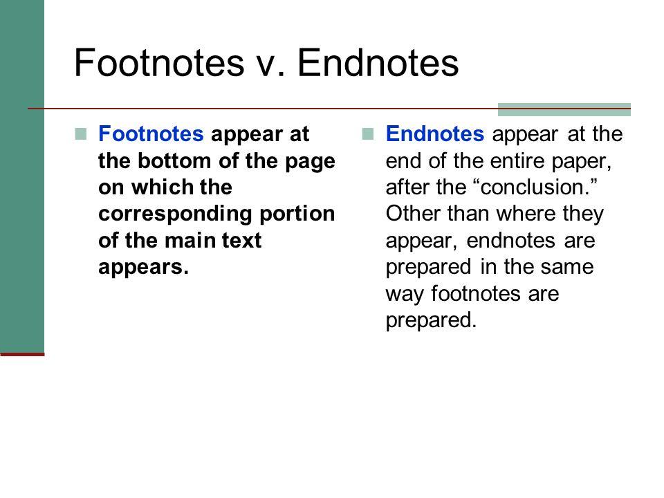 Footnotes v.