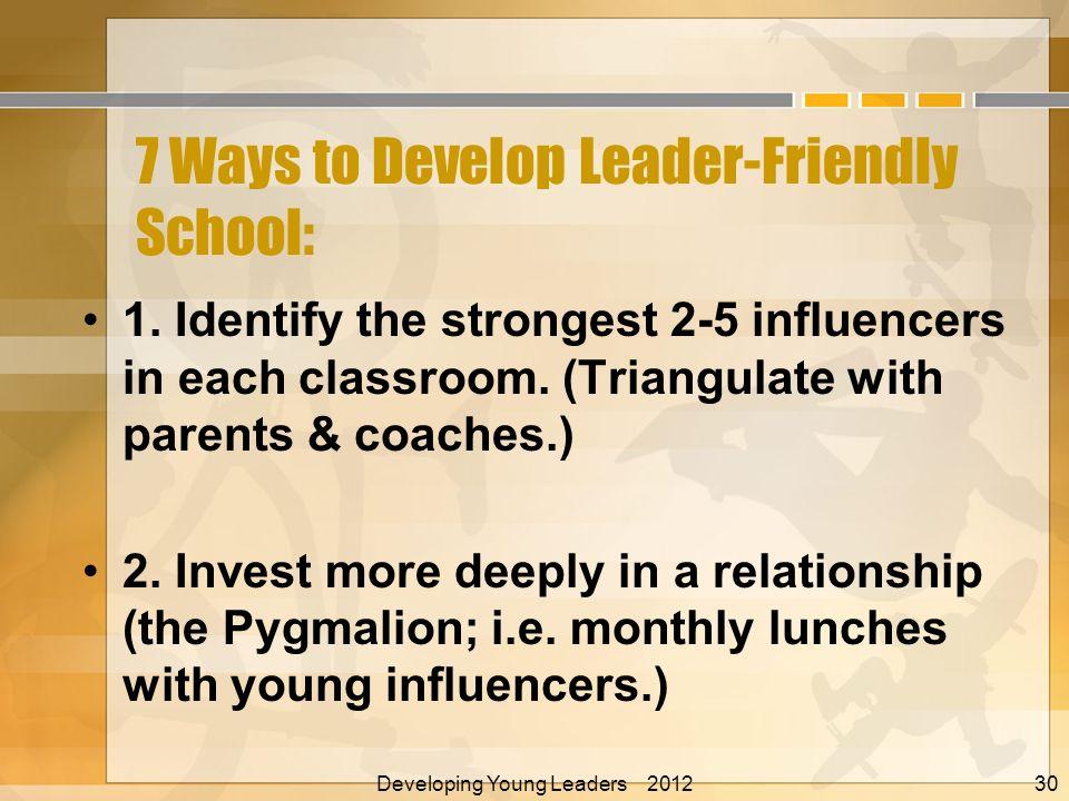 7 Ways to Develop Leader-Friendly School: 1.