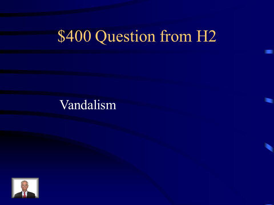 $300 Answer from H2 What is major