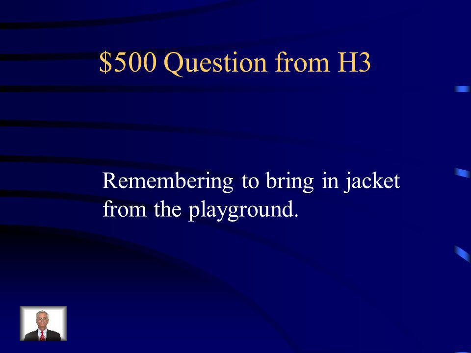 $400 Answer from H3 What is Ready