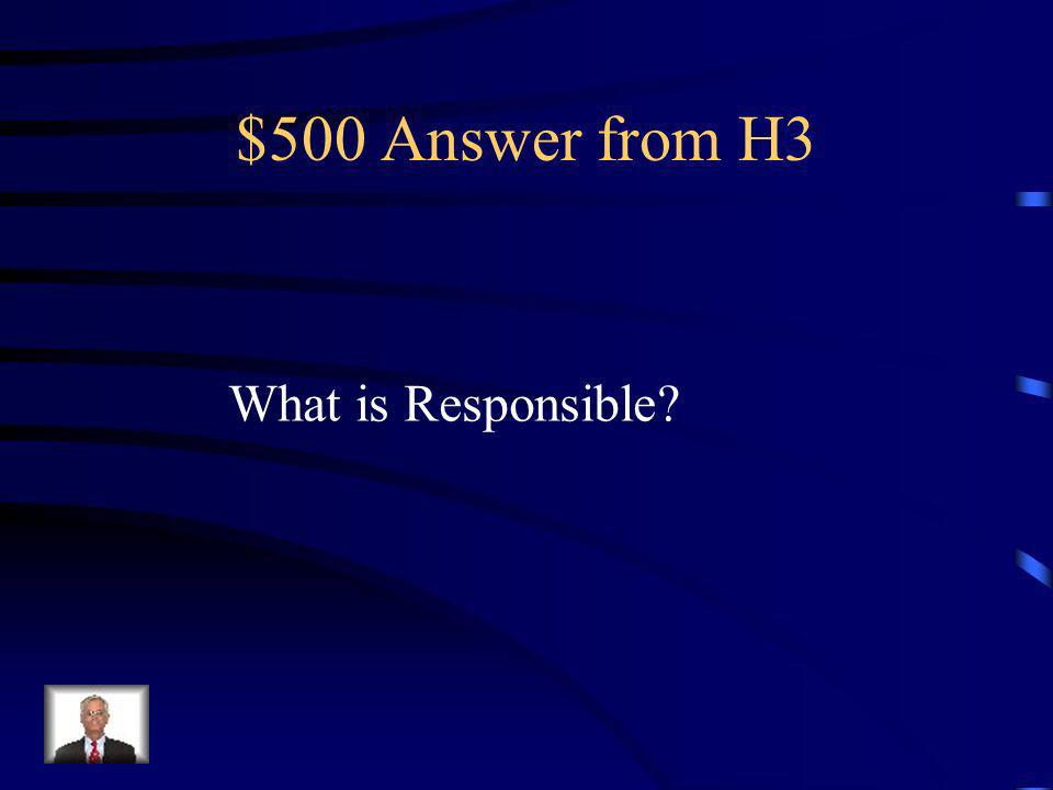 $500 Question from H3 Remembering to bring in jacket from the playground.