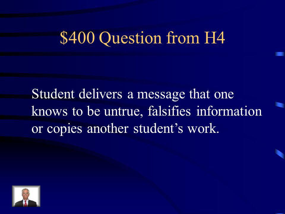$300 Answer from H4 What is Defiance?