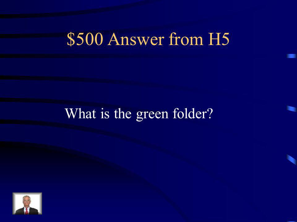 $500 Question from H5 Your resource guide to SWPBS.