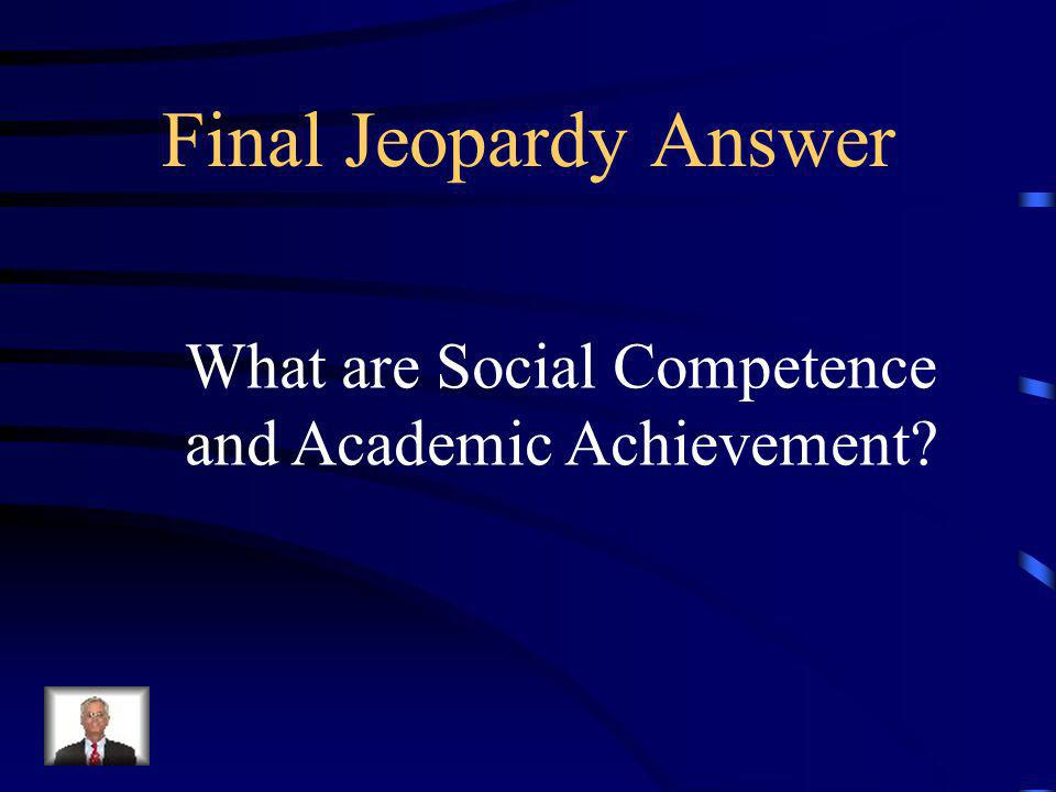 Final Jeopardy This is the expected outcome of SWPBS when we are using systems to support staff, data to support decision making, and best practices to support student behavior.