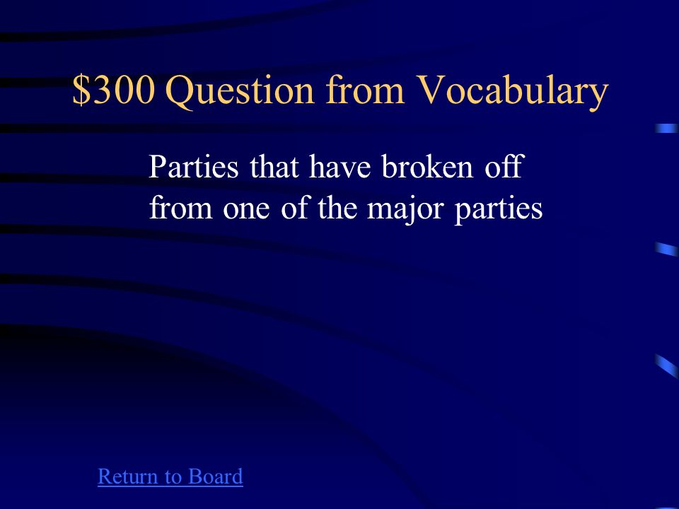 $200 Answer from Vocabulary Return to Board What is a pluralistic society?
