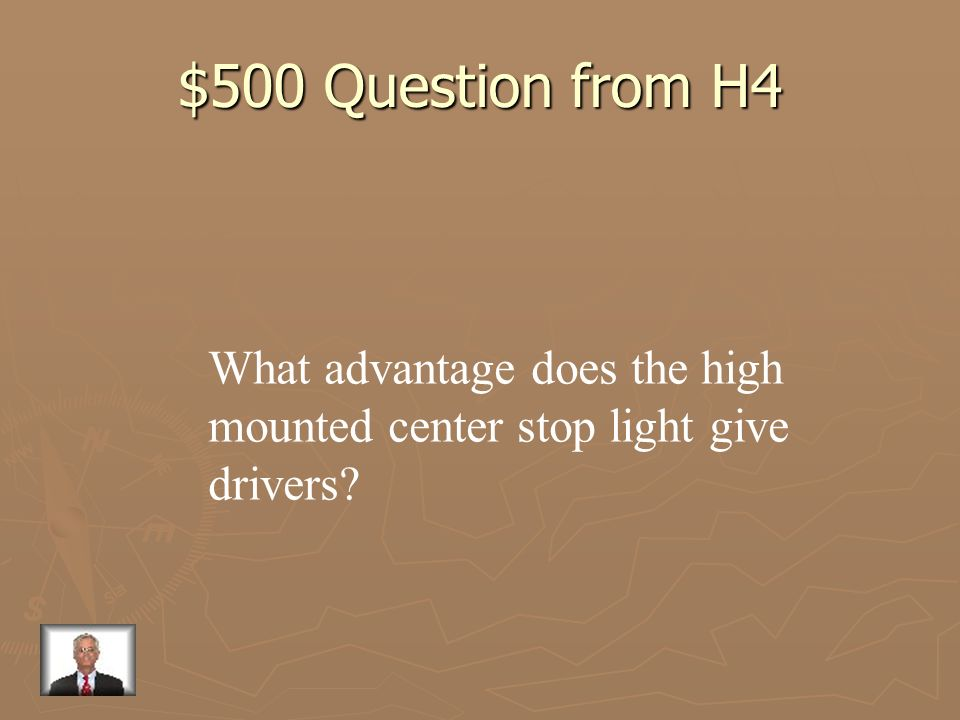 $400 Answer from H4 If you must stop suddenly, the tailgater will not have enough time to stop and will run into the car ahead.