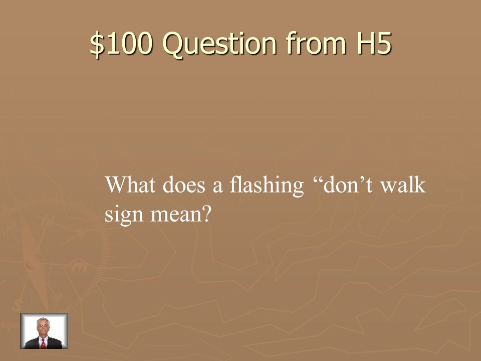 $500 Answer from H4 Gives drivers an added warning about stopping or the turning of a vehicle