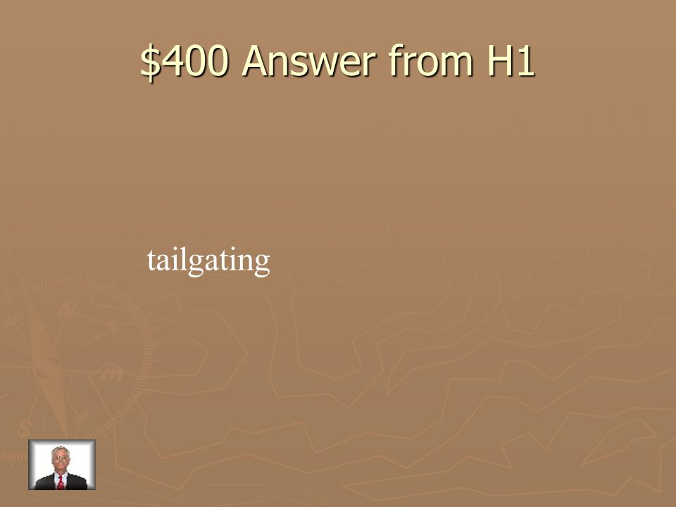 $400 Question from H1 following too closely
