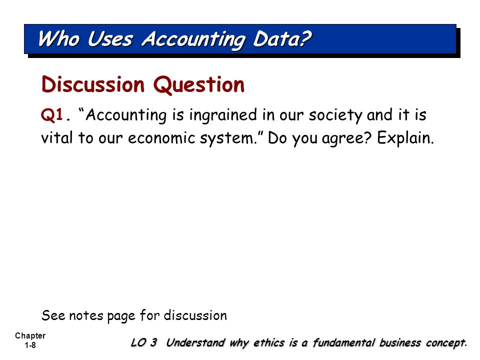 Chapter 1-39 Balance Sheet Financial Statements LO 8 Understand the four financial statements and how they are prepared.