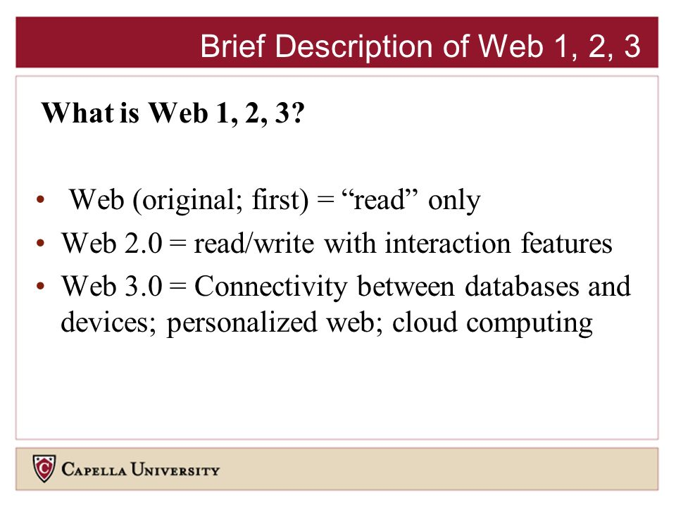 What is Web 1, 2, 3.