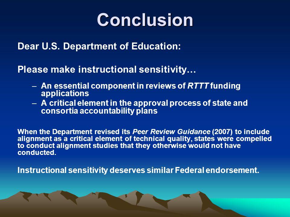 Conclusion Dear U.S.