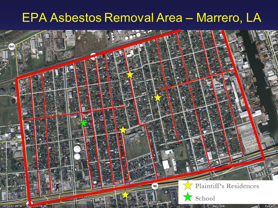 38 HAWKINS PARNELL THACKSTON & YOUNG LLP EPA Asbestos Removal Area – Marrero, LA Plaintiffs Residences School