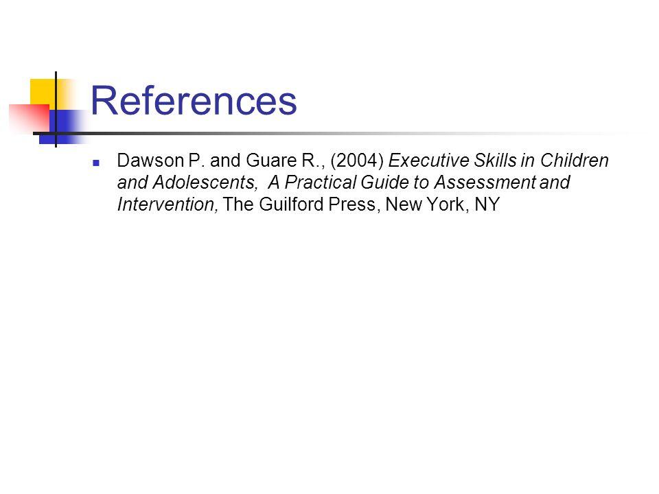 References Dawson P.