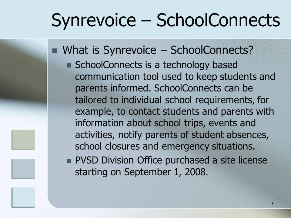 Synrevoice – SchoolConnects What is Synrevoice – SchoolConnects.