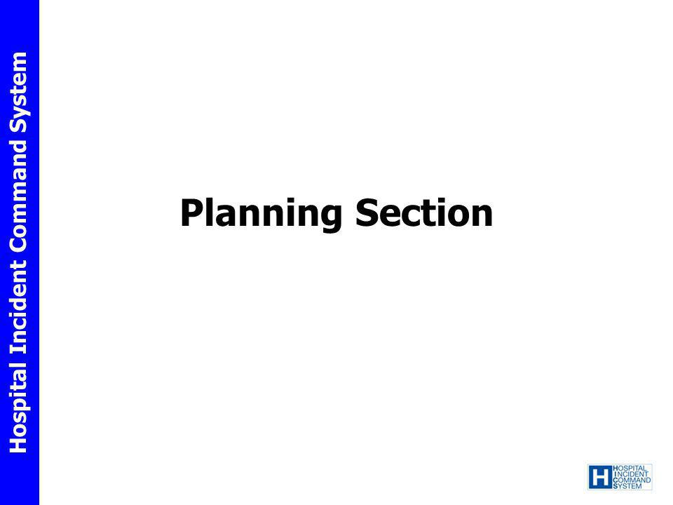 Hospital Incident Command System Planning Section