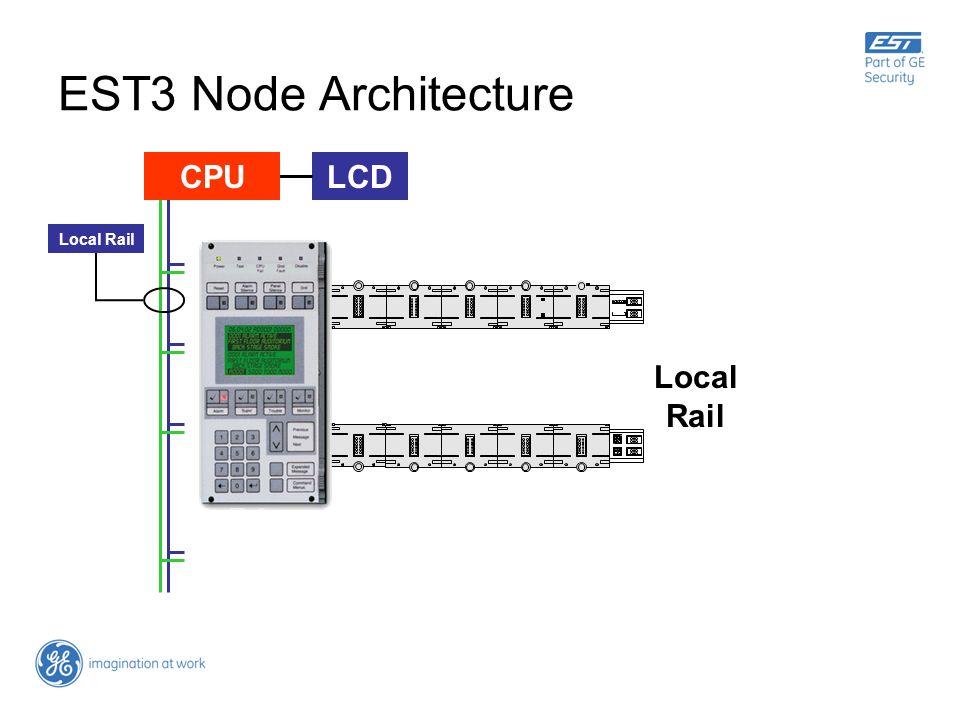 EST3 Node Architecture LCD Local Rail CPU Local Rail