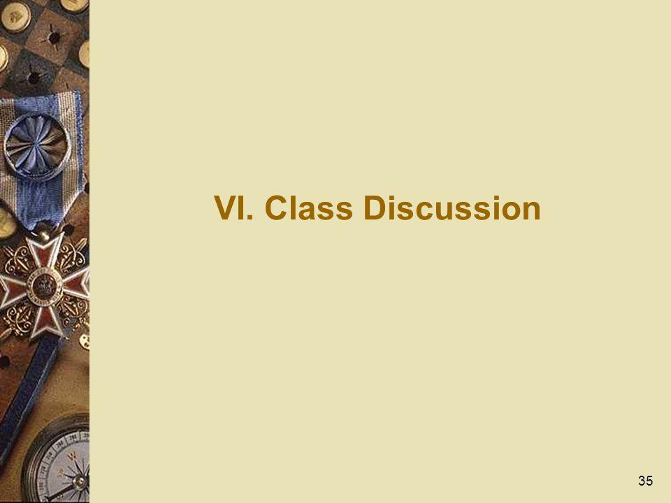 35 VI. Class Discussion