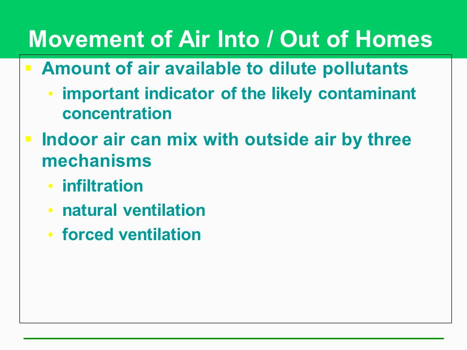 Reducing Indoor Air Pollution Should Be a Priority Greater threat to human health than outdoor pollution What can be done? Prevention Cleanup
