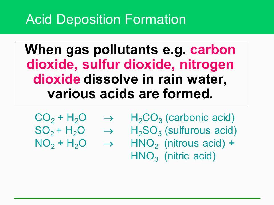 18-3 Acid Disposition Is a Serious Regional Air Pollution Problem Acid deposition, acid rain Local versus regional problems Tall smokestacks reduce lo
