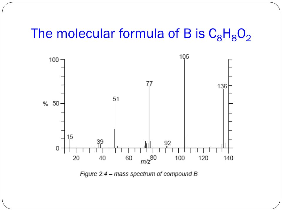 The molecular formula of B is C 8 H 8 O 2