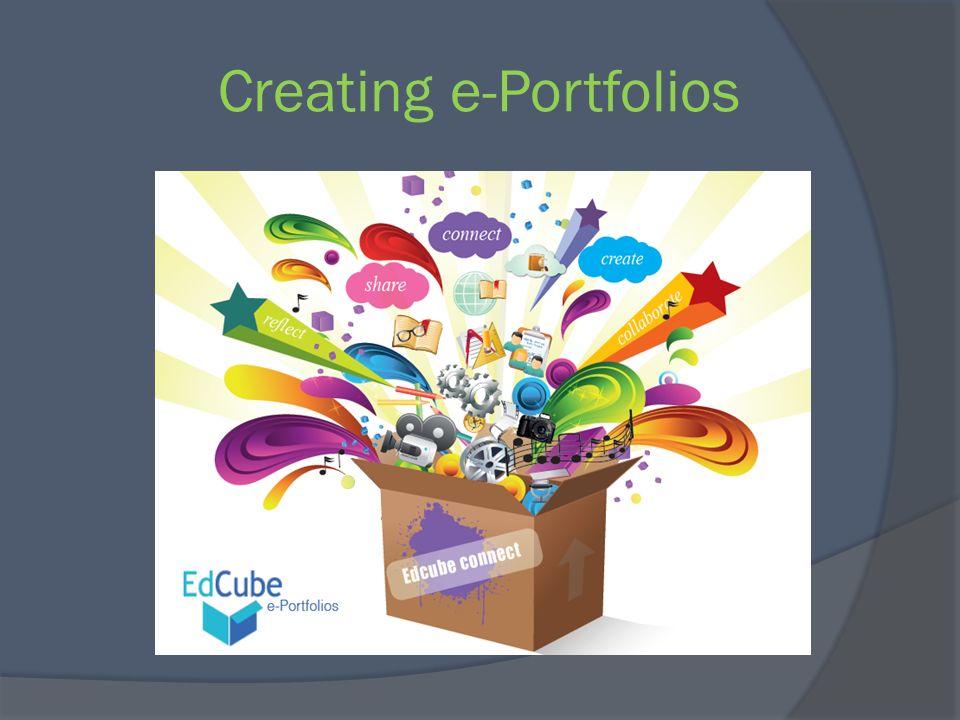 Creating e-Portfolios