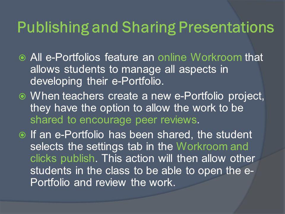 What is a Collaborative e-Portfolio.