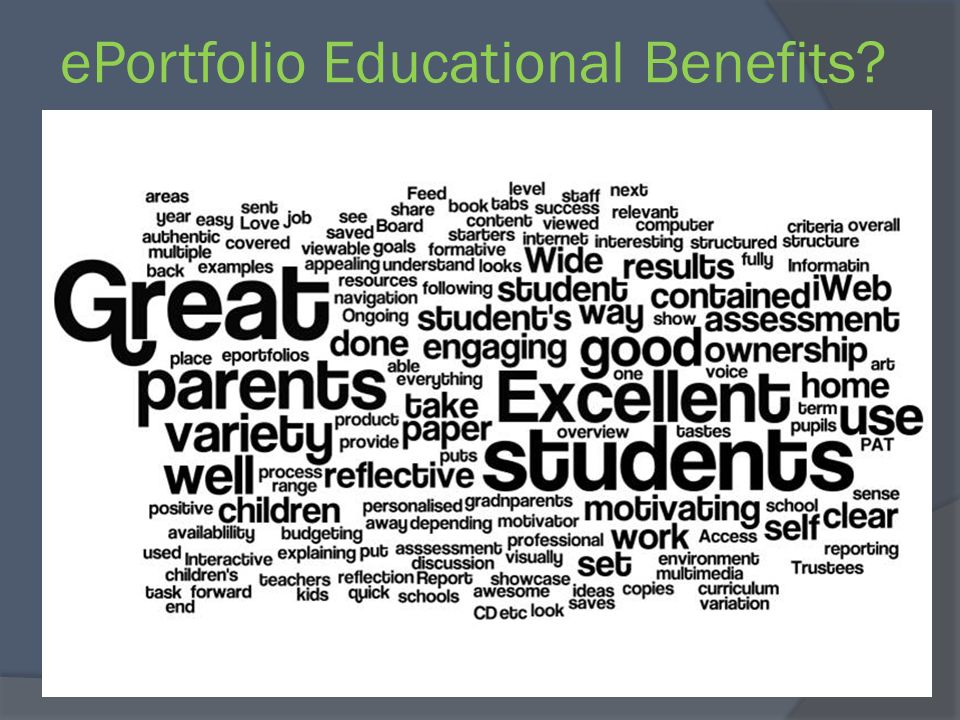 ePortfolio Educational Benefits?