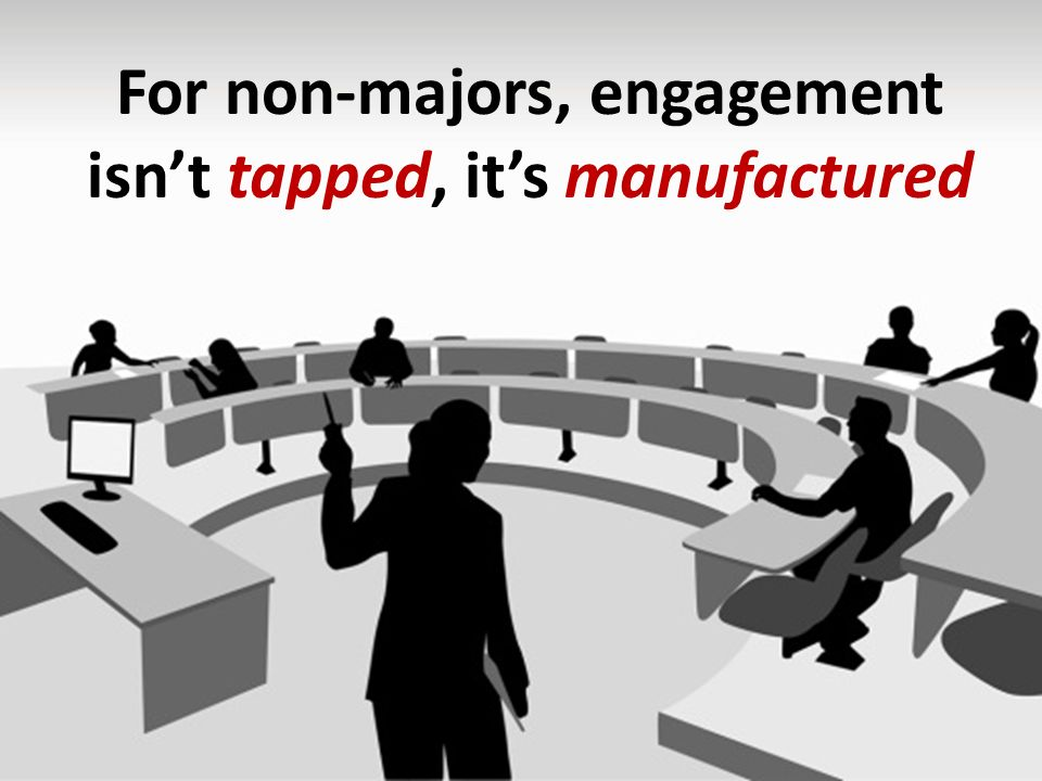 For non-majors, engagement isnt tapped, its manufactured