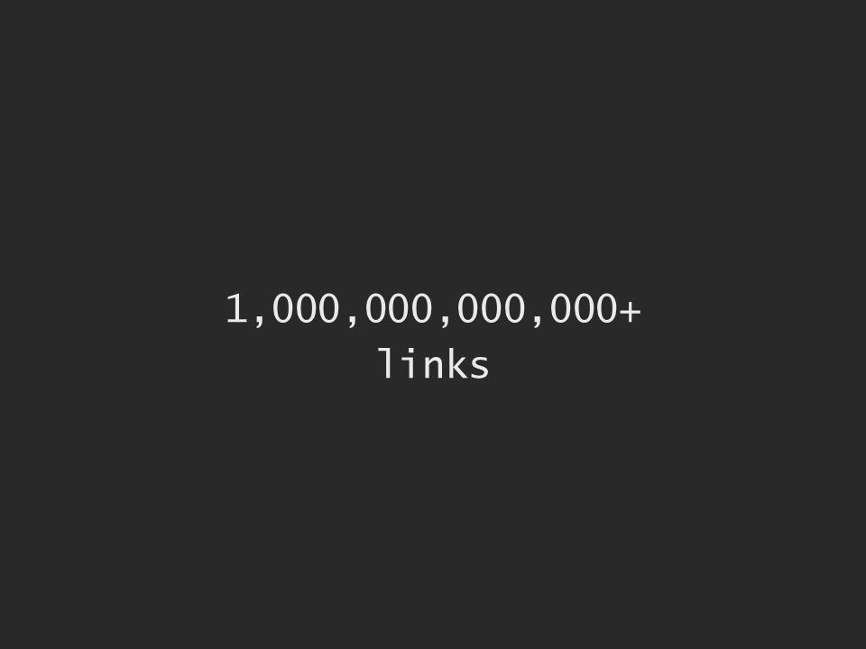1,000,000,000,000+ links