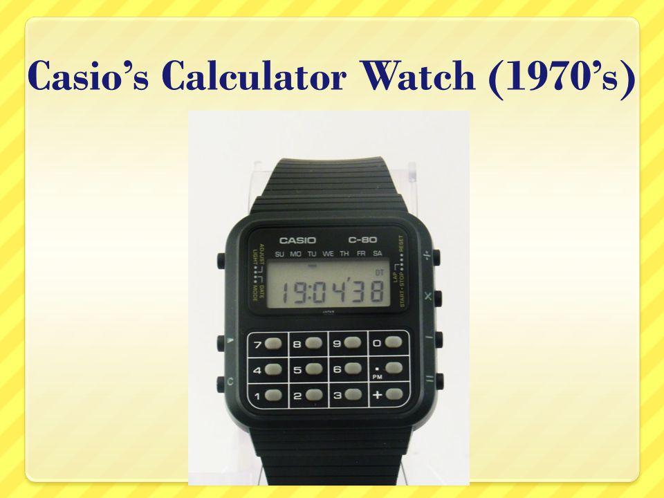 Casios Calculator Watch (1970s)