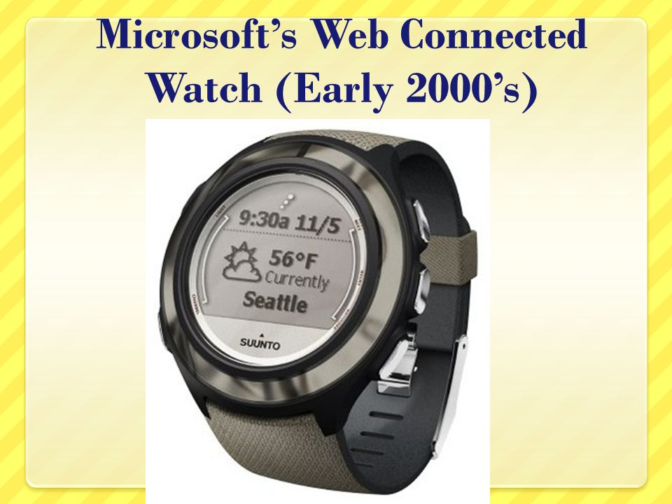 Microsofts Web Connected Watch (Early 2000s)