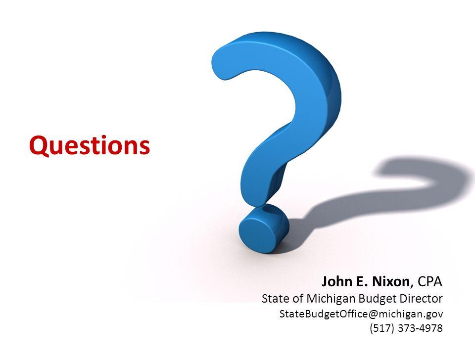 Questions John E.